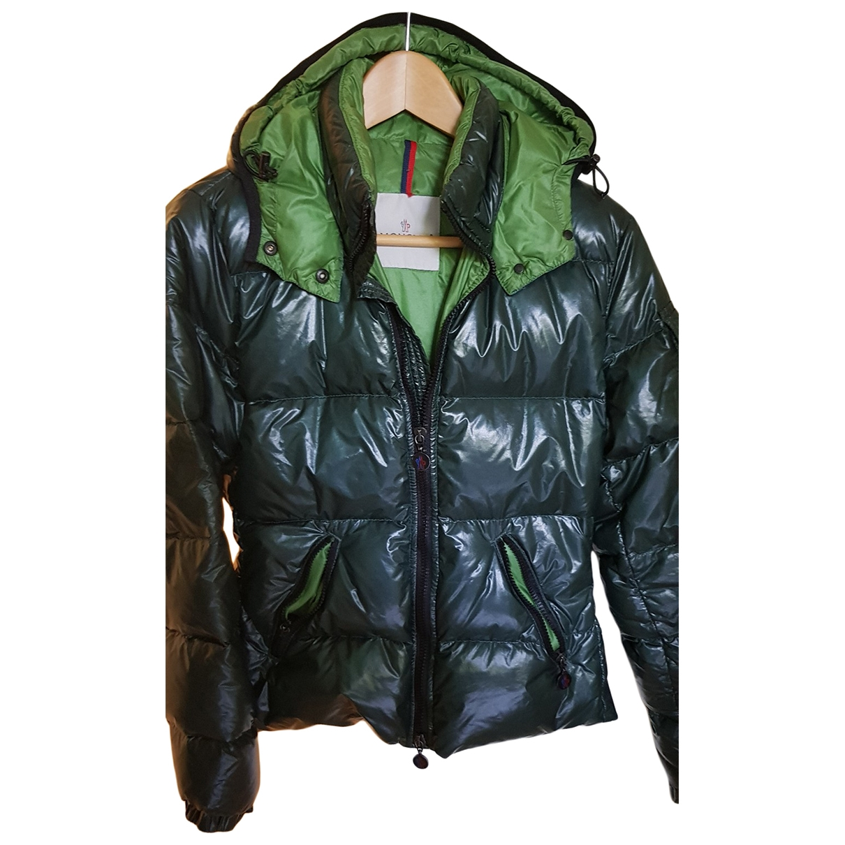 Moncler Hood Green coat for Women 38 IT