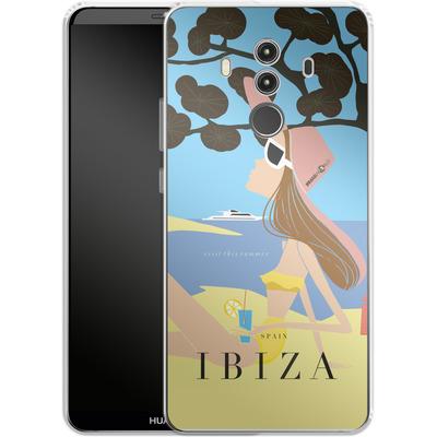 Huawei Mate 10 Pro Silikon Handyhuelle - IBIZA TRAVEL POSTER von IRMA