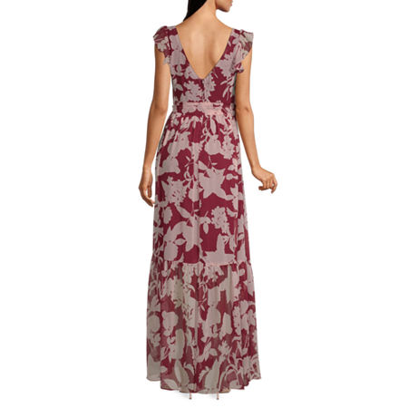 Premier Amour Sleeveless Floral Maxi Dress, 6 , Red