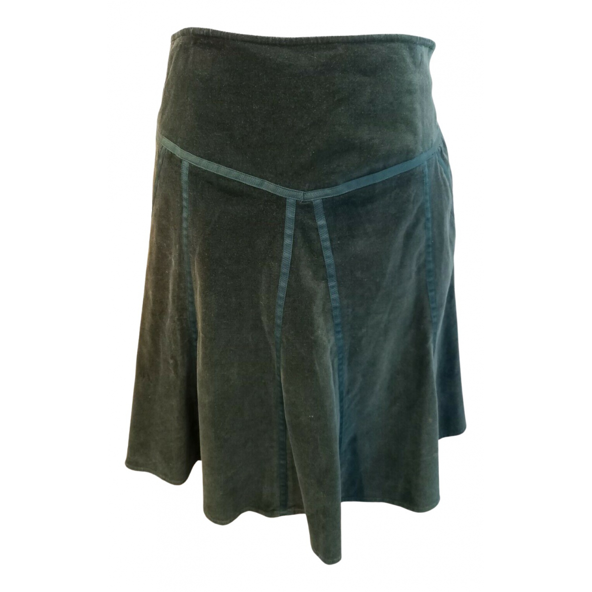 Essentiel Antwerp N Green Cotton skirt for Women 40 IT