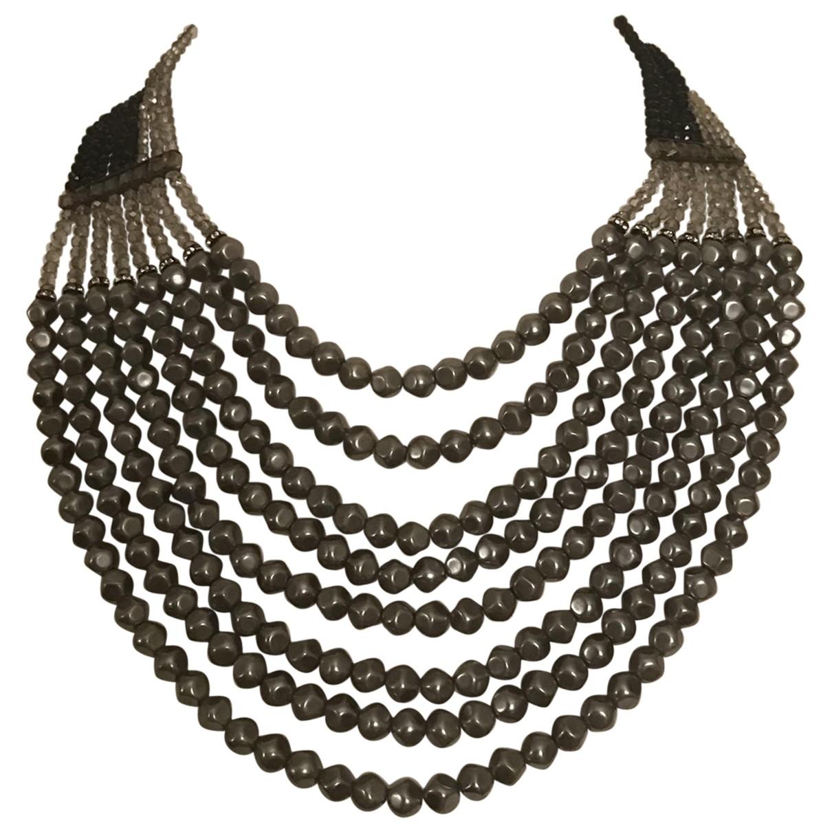 Max Mara Weekend - Collier   pour femme en perles - gris
