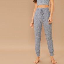 Pantalones deportivos de cintura con cordon tejidos de canale