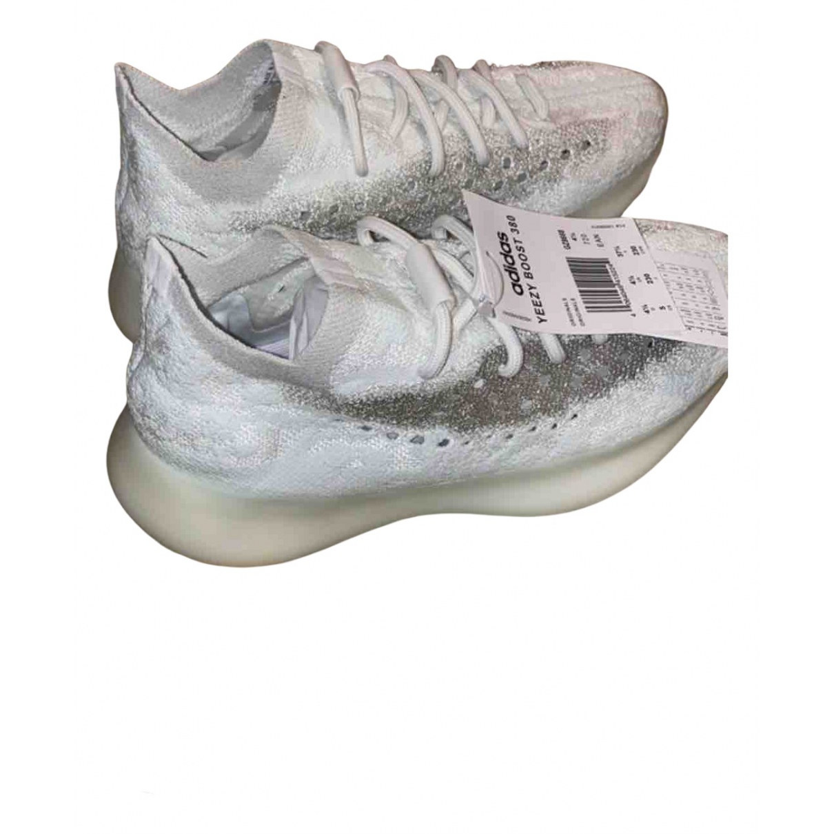 Yeezy X Adidas - Baskets Boost 380 pour femme en toile - blanc