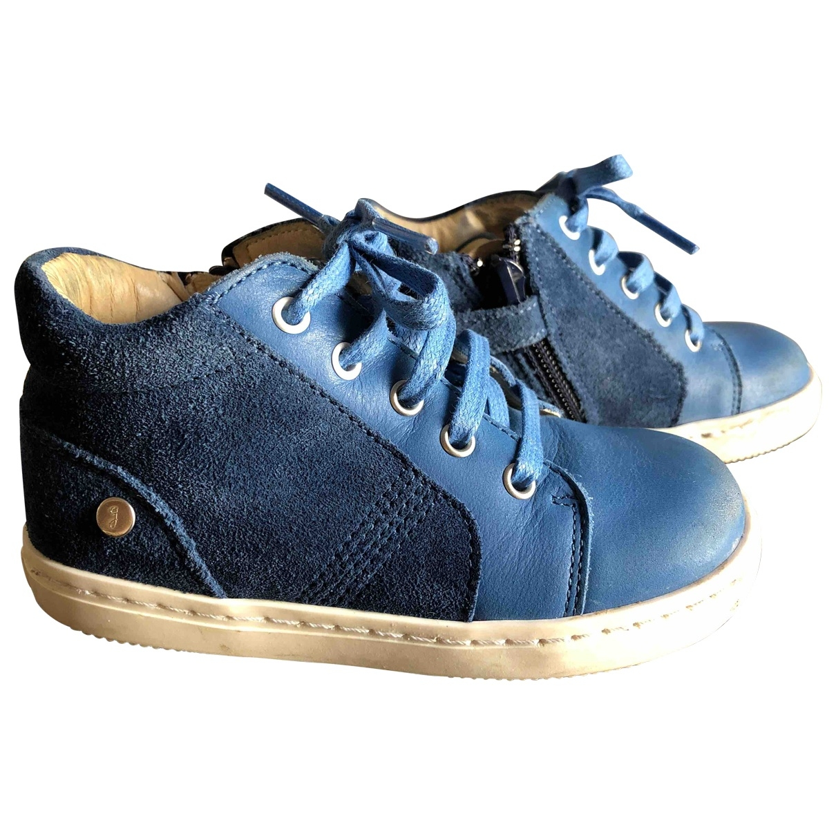 Jacadi \N Blue Leather Boots for Kids 23 EU