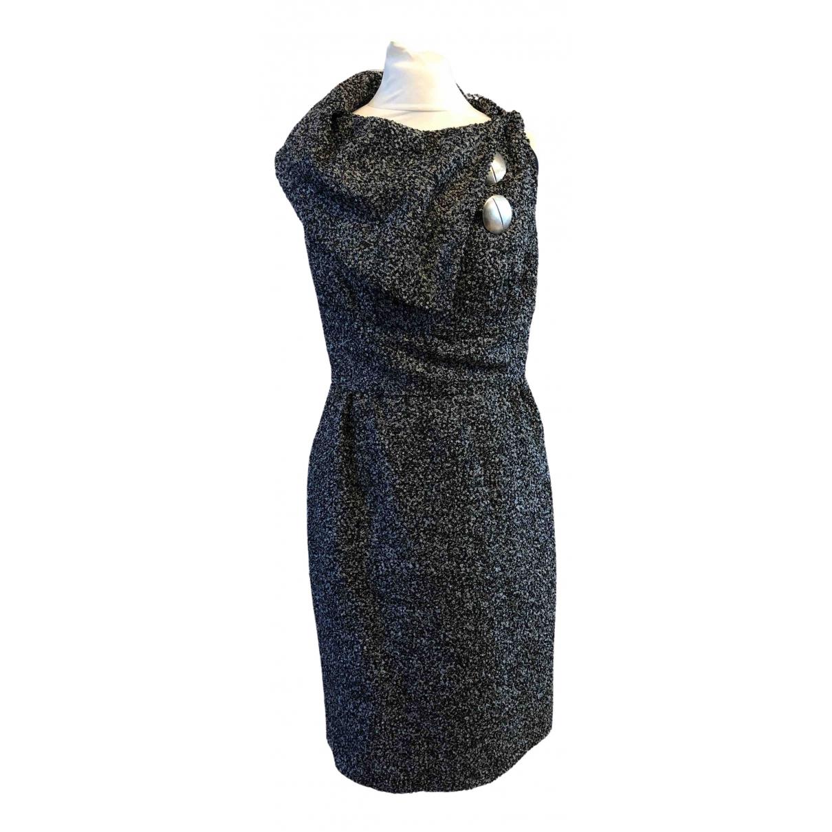 Bill Blass \N Grey Wool dress for Women 8 US