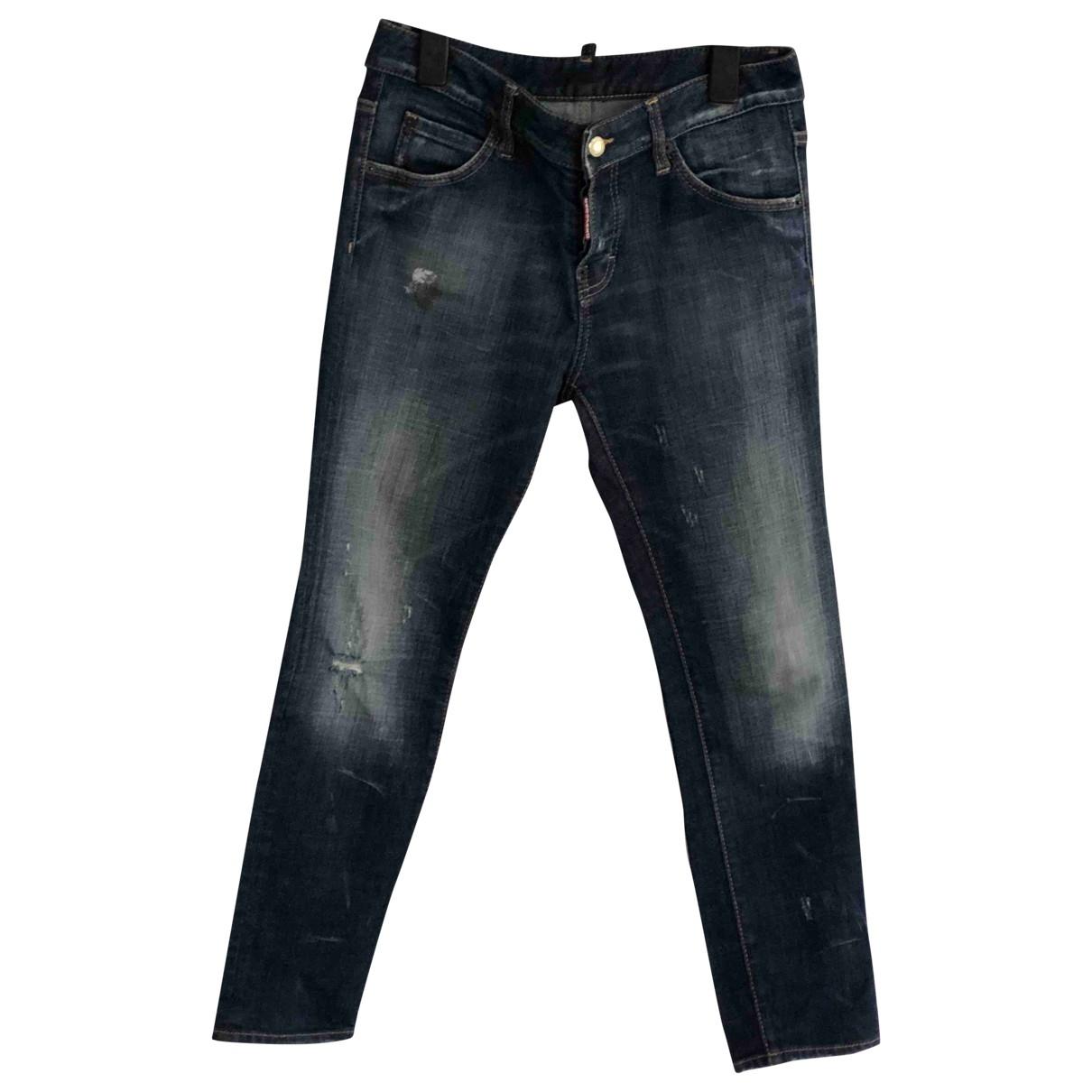 Dsquared2 \N Blue Denim - Jeans Jeans for Women 38 FR