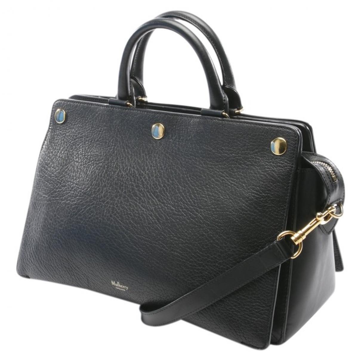 Mulberry \N Handtasche in  Schwarz Leder