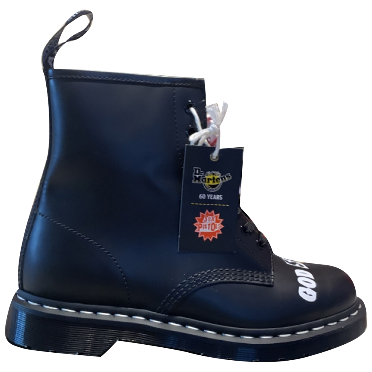 Dr. Martens 1460 Pascal (8 eye) Black Leather Boots for Men 43 EU