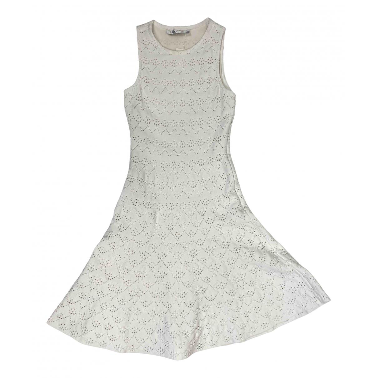 Dior - Robe   pour femme en coton - blanc