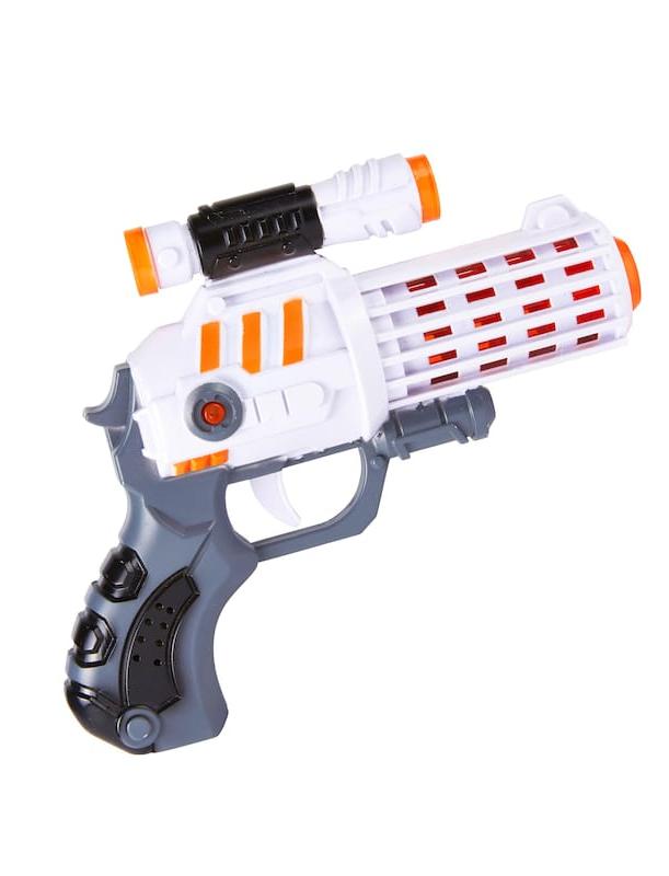 Kostuemzubehor Pistole Space Gun mit Zielfernrohr Farbe: weiss