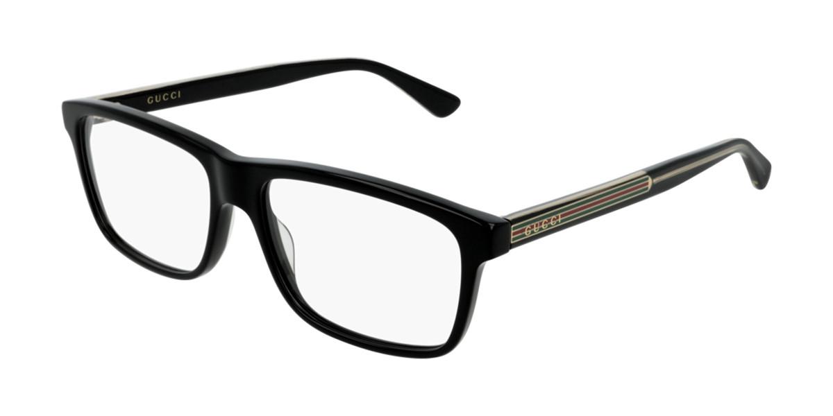 Gucci GG0384O 004 Men's Glasses Black Size 57 - Free Lenses - HSA/FSA Insurance - Blue Light Block Available