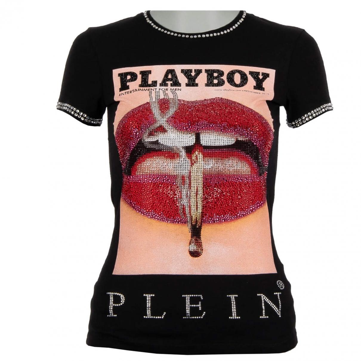 Philipp Plein - Top   pour femme en coton - noir