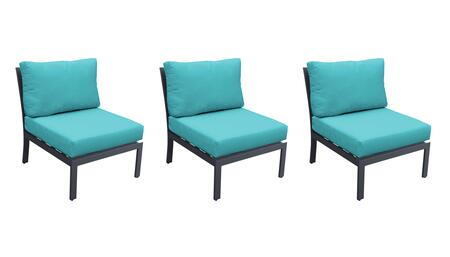 TKC067b-AS-TB-ARUBA Armless Chair 3 Per box - Ash and Aruba