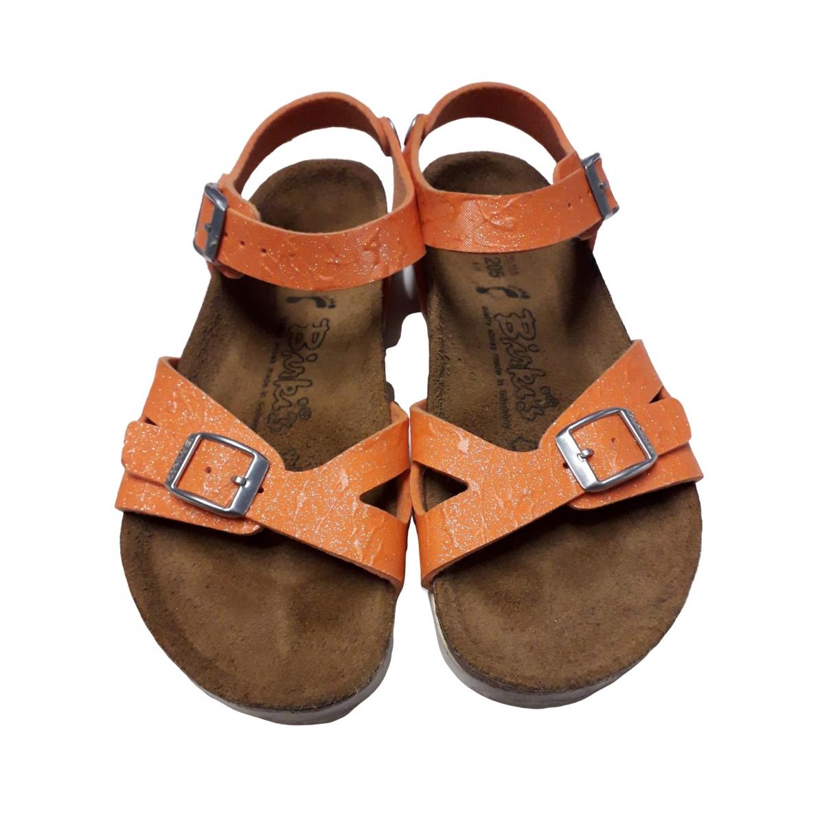 Birkenstock \N Orange Glitter Sandals for Kids 32 EU