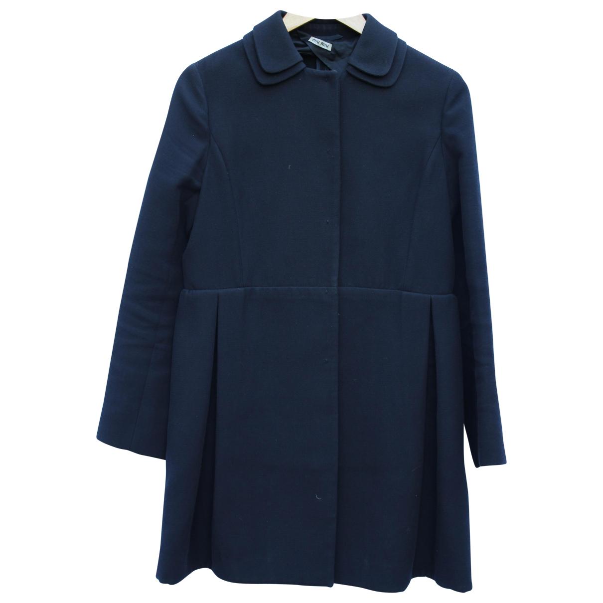 Miu Miu - Manteau   pour femme en coton - noir