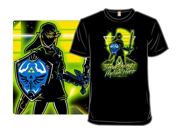 Retro Smashing Hero T Shirt