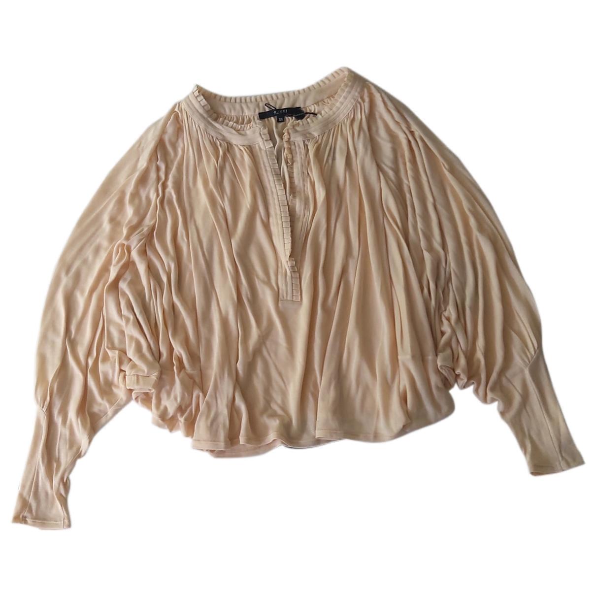 Gucci - Top   pour femme en coton - beige