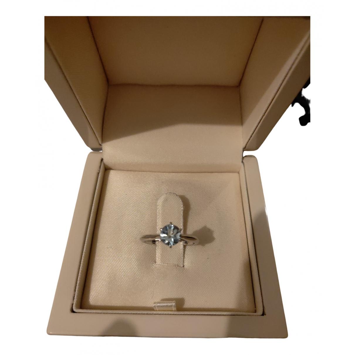 Gemmyo - Bague   pour femme en or blanc - gris