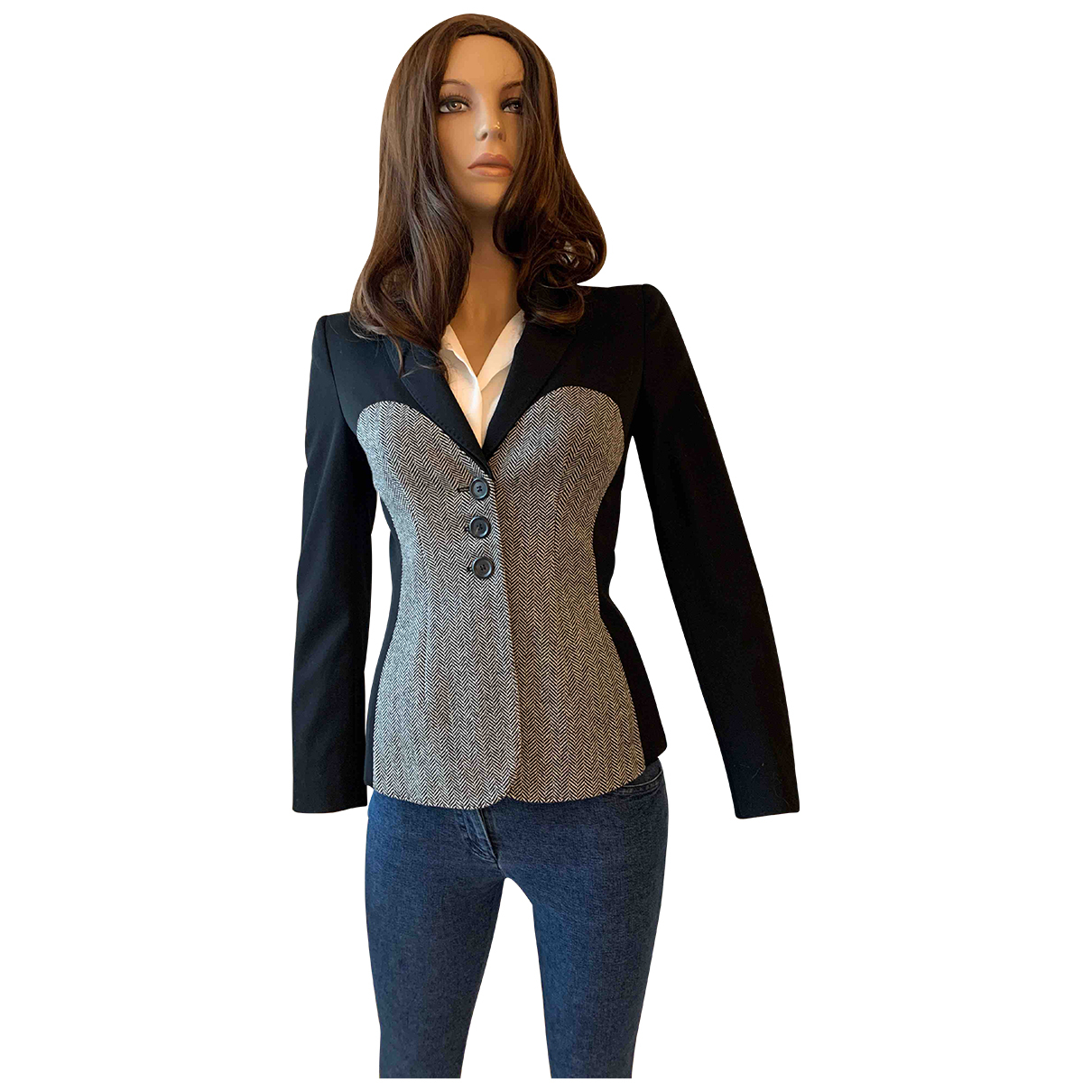Moschino N Black Wool jacket for Women 42 IT