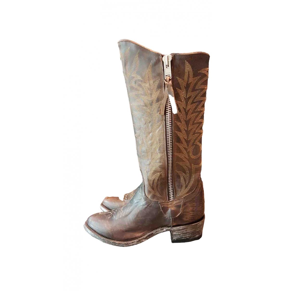 Mexicana \N Stiefel in  Braun Leder
