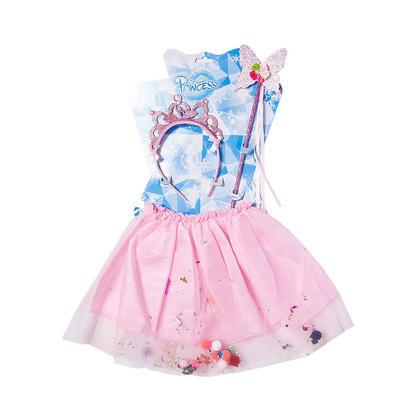 Tutu Jupe avec bandeau et baguette pour Filles, Costumes de fête, Rose - LIVINGbasics™