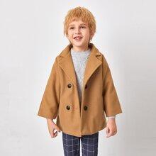 Mantel mit zweireihigen Knopfen