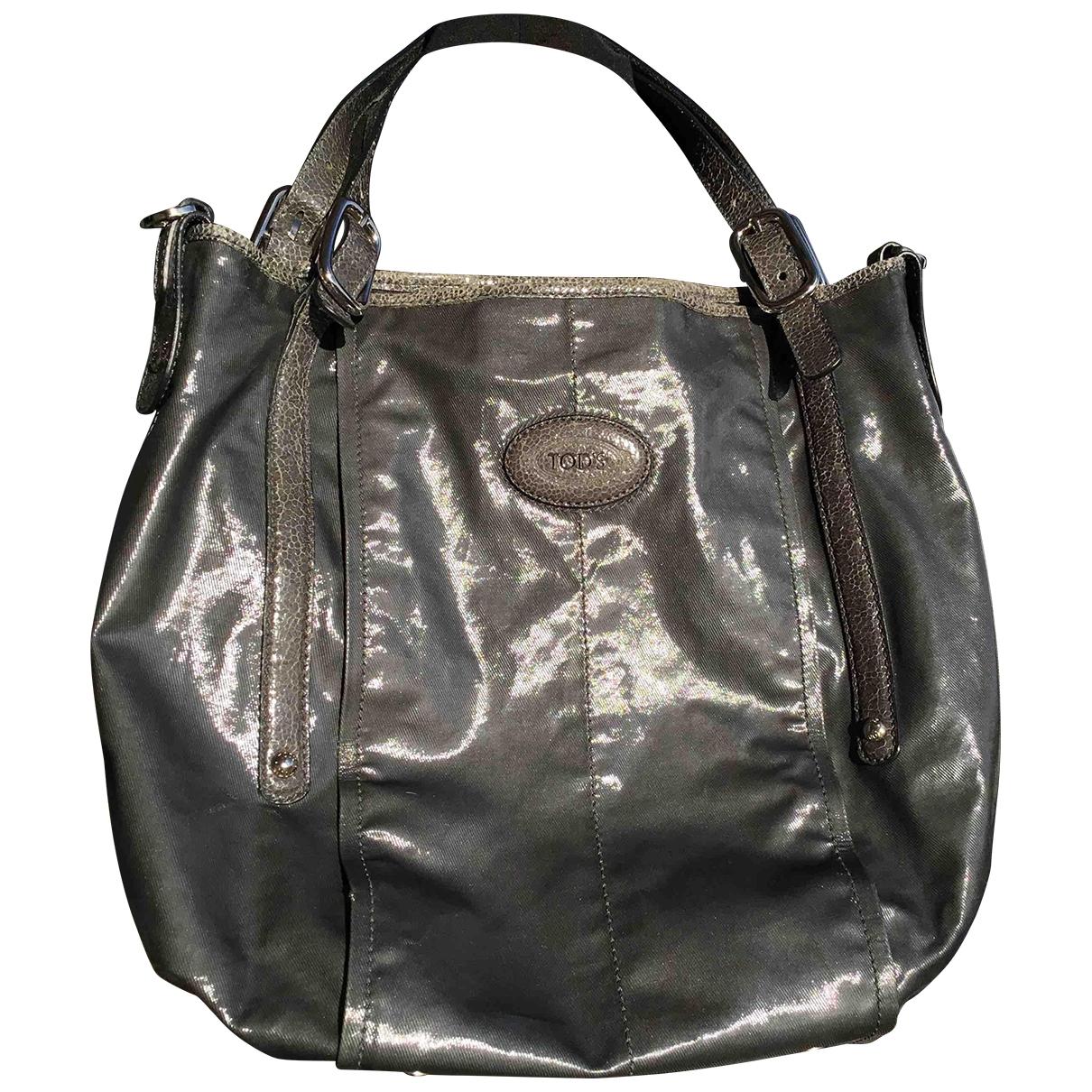 Tod's \N Handtasche in  Grau Leinen