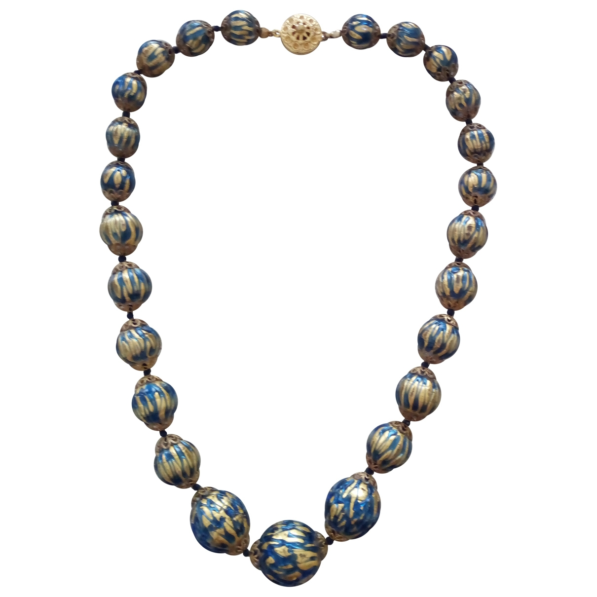 Non Signé / Unsigned \N Blue Glass necklace for Women \N