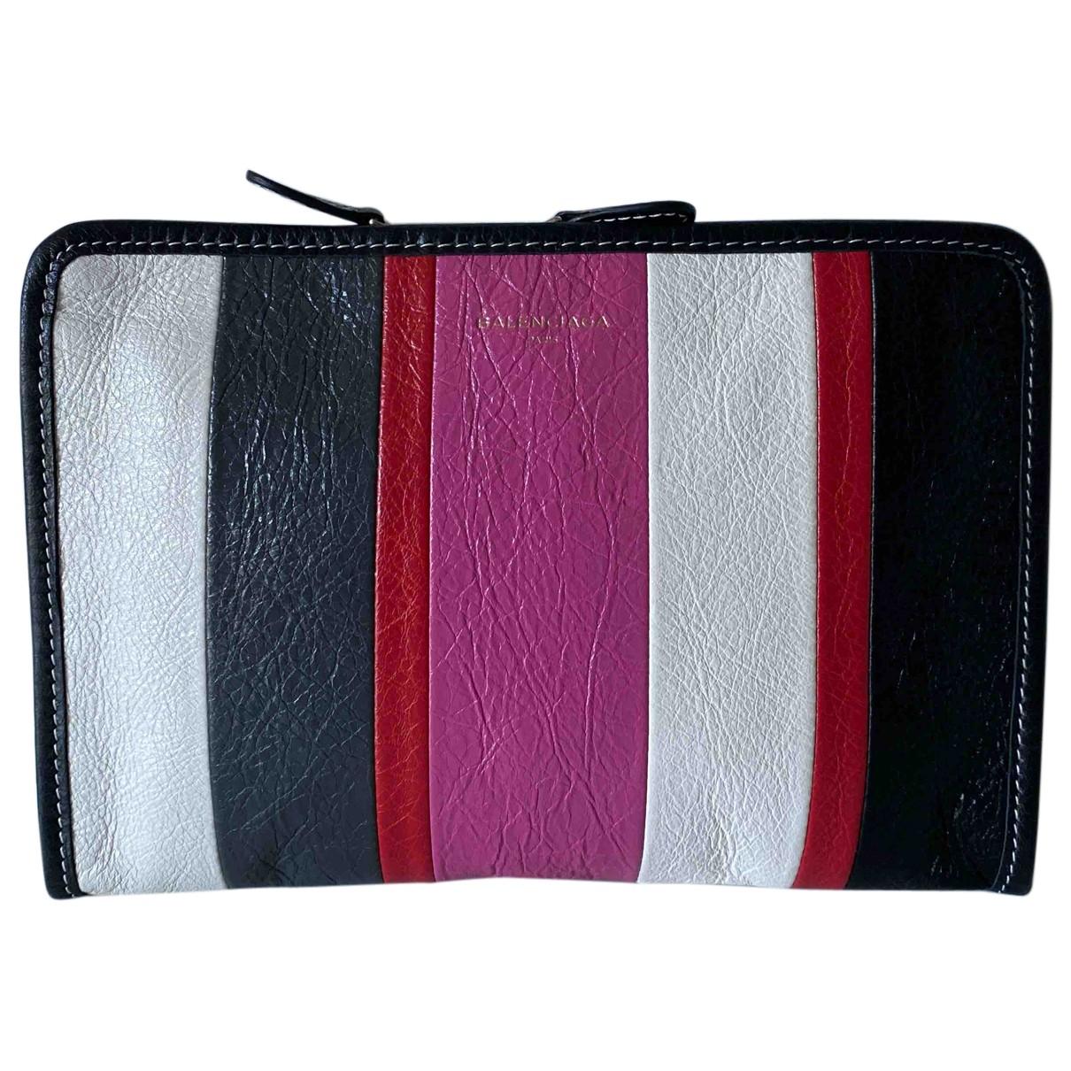 Balenciaga Bazar Bag Clutch in  Bunt Leder