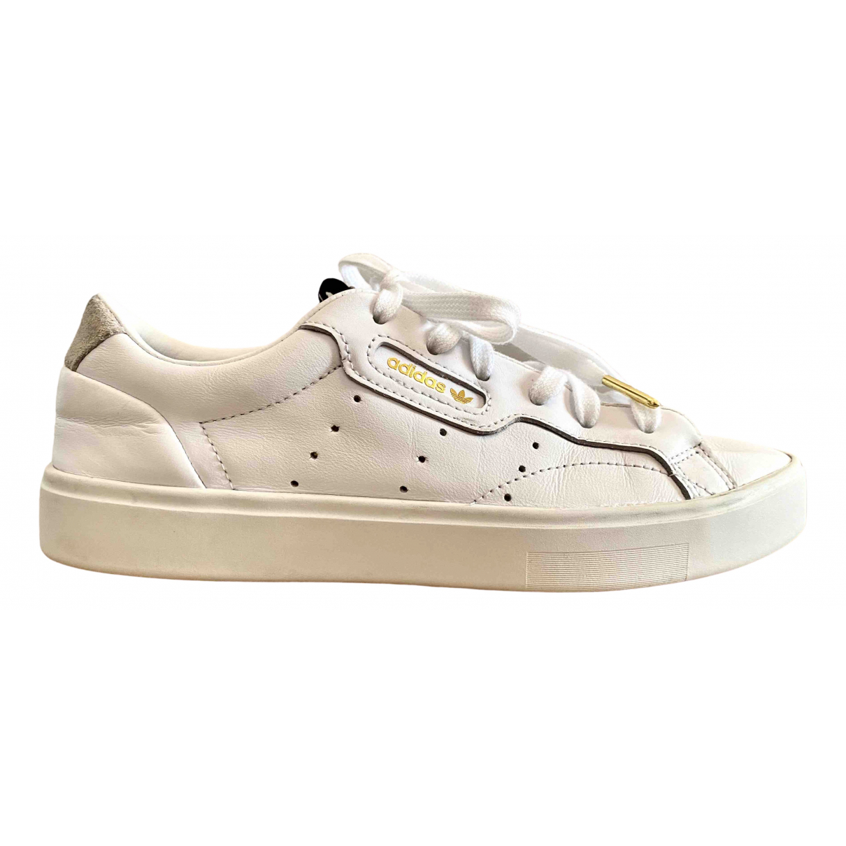 Adidas \N White Leather Trainers for Women 38 EU