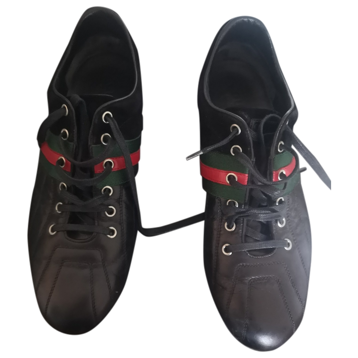 Gucci \N Black Leather Trainers for Men 40.5 EU