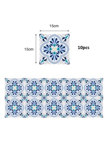 10sheets Graphic Print Tile Sticker