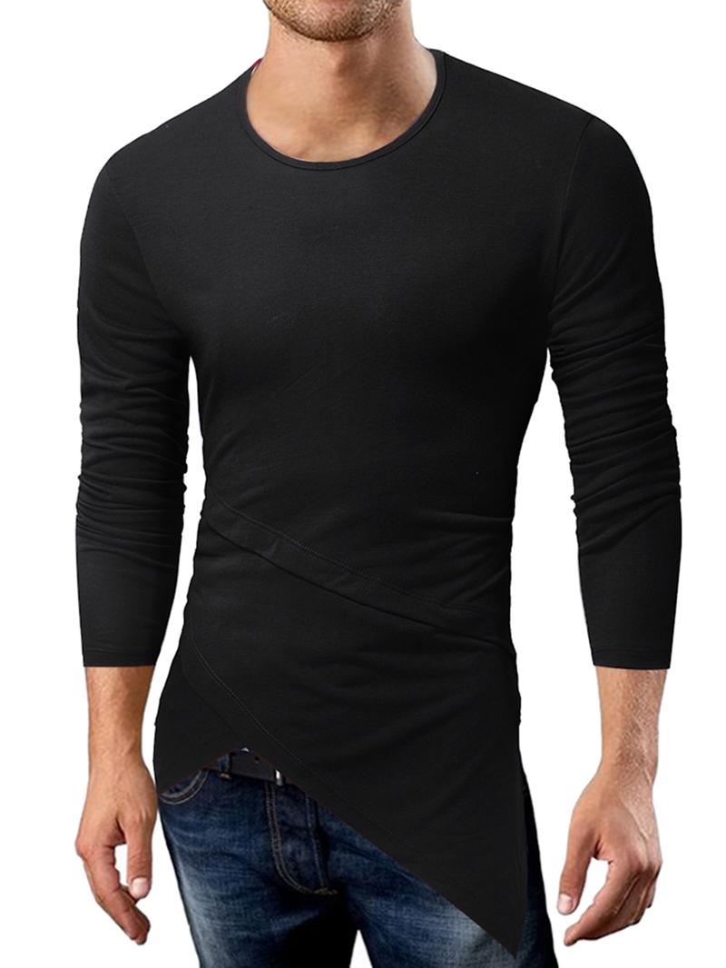 Ericdress Round Neck Men's Slim T-Shirt