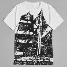 T-Shirt mit Grafik Muster