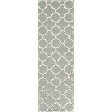 Safavieh Anna Geometric Hand Tufted Wool Rug, One Size , Gray