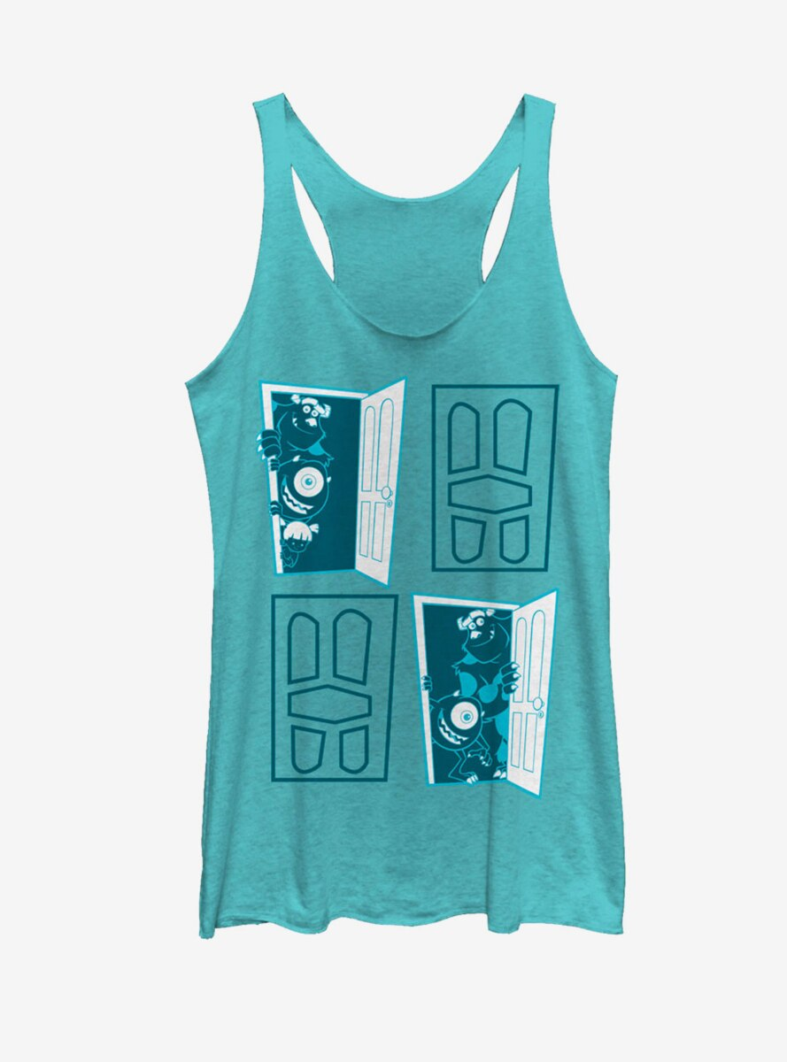 Disney Pixar Monsters, Inc. Closet Door Portal Womens Tank
