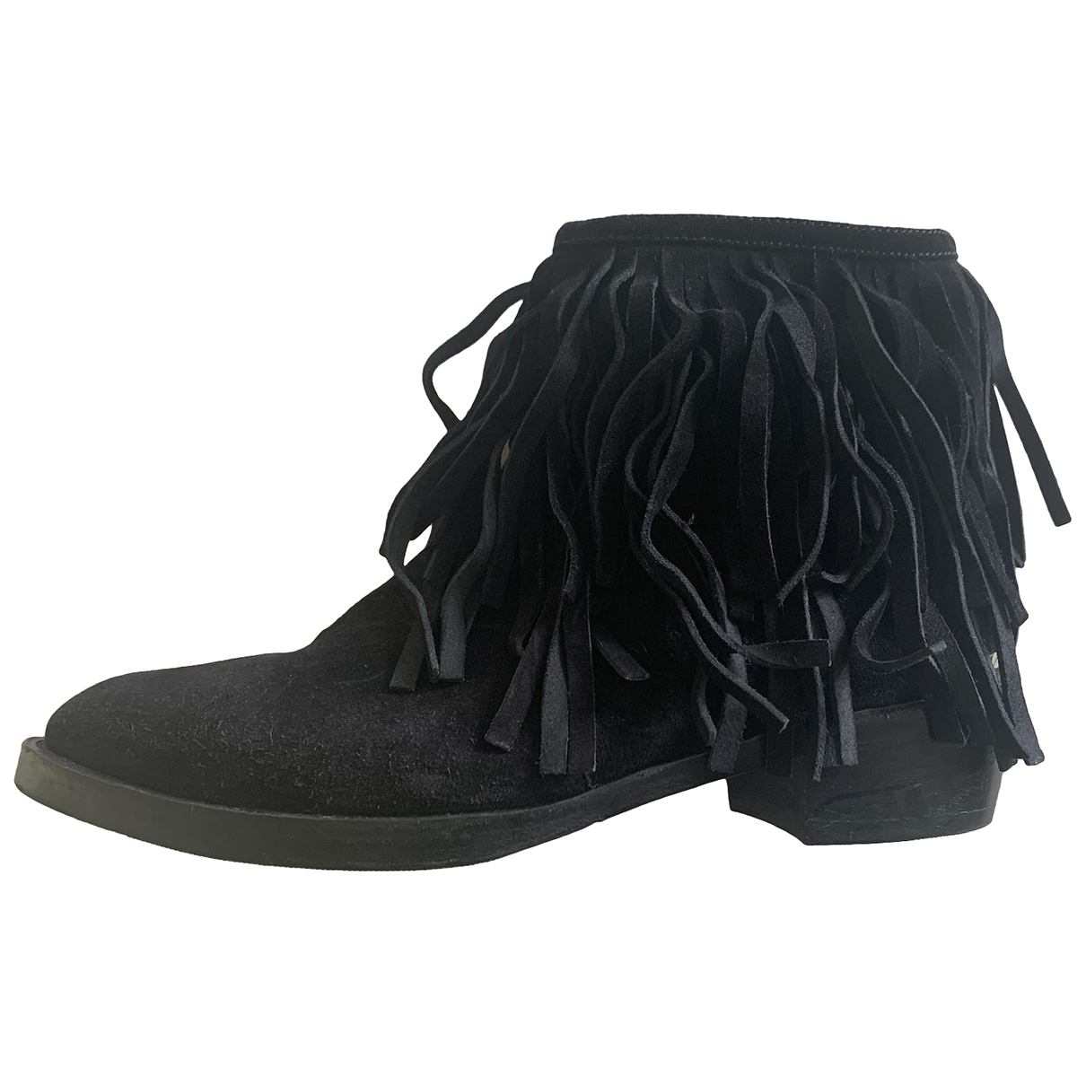 Louis Vuitton \N Black Suede Ankle boots for Women 38 IT