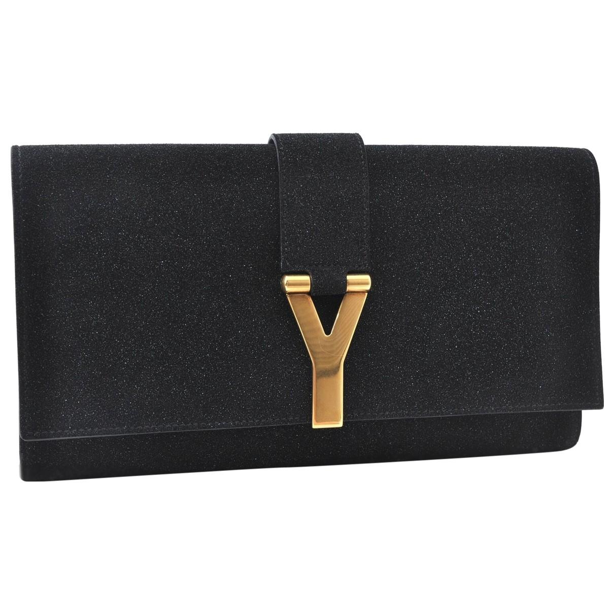 Yves Saint Laurent \N Clutch in  Schwarz Kunststoff