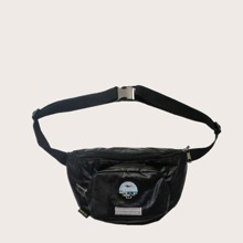 Men Letter Embroidery Fanny Pack