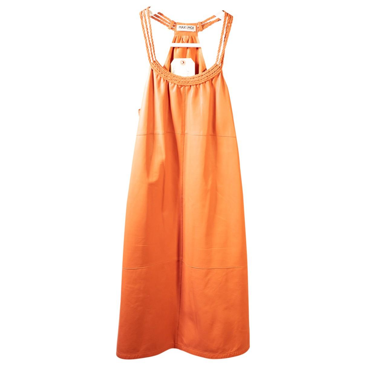 Max & Moi \N Kleid in  Orange Leder
