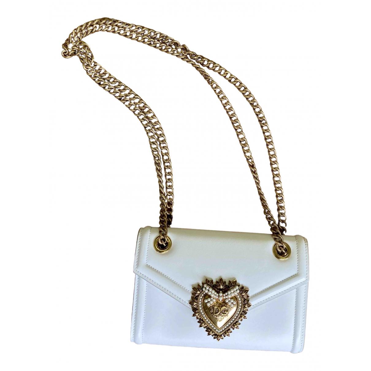 Dolce & Gabbana Devotion White Leather handbag for Women N