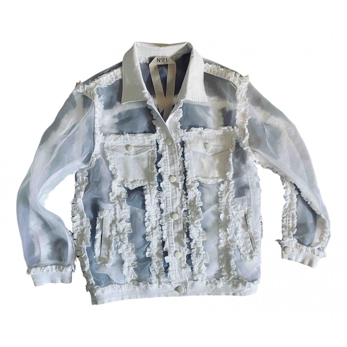N°21 - Veste   pour femme en coton - blanc