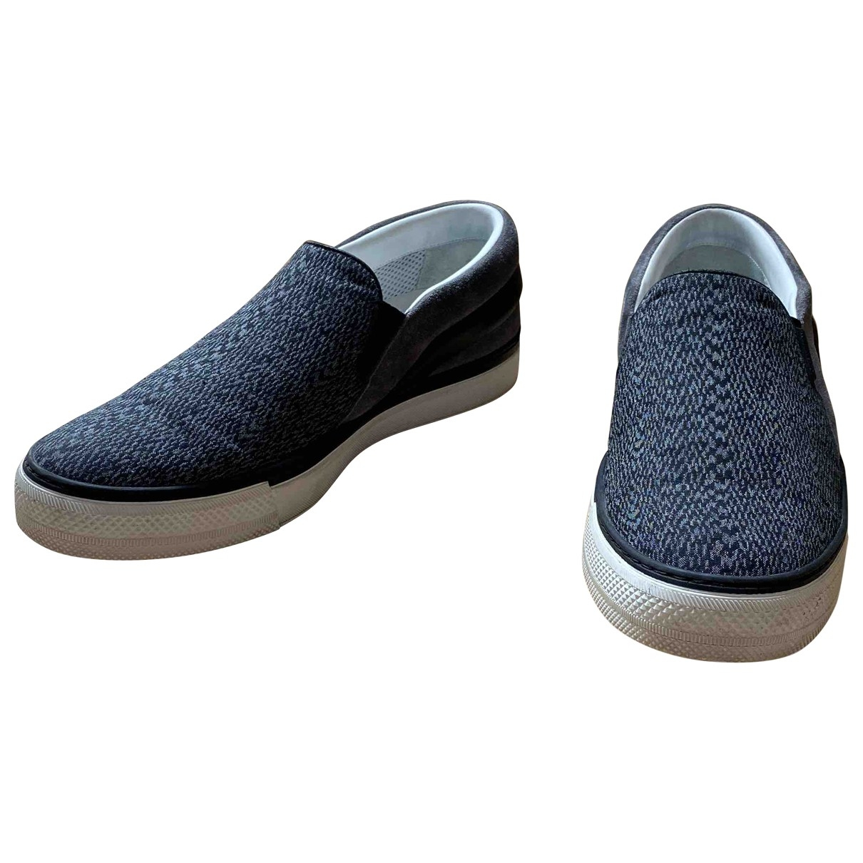 Louis Vuitton \N Anthracite Cloth Trainers for Men 7 US