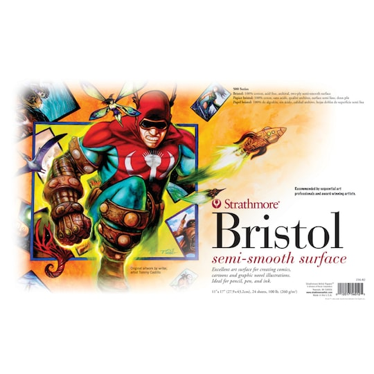 Strathmore® 500 Series Sequential Art Bristol Paper Sheet, 11