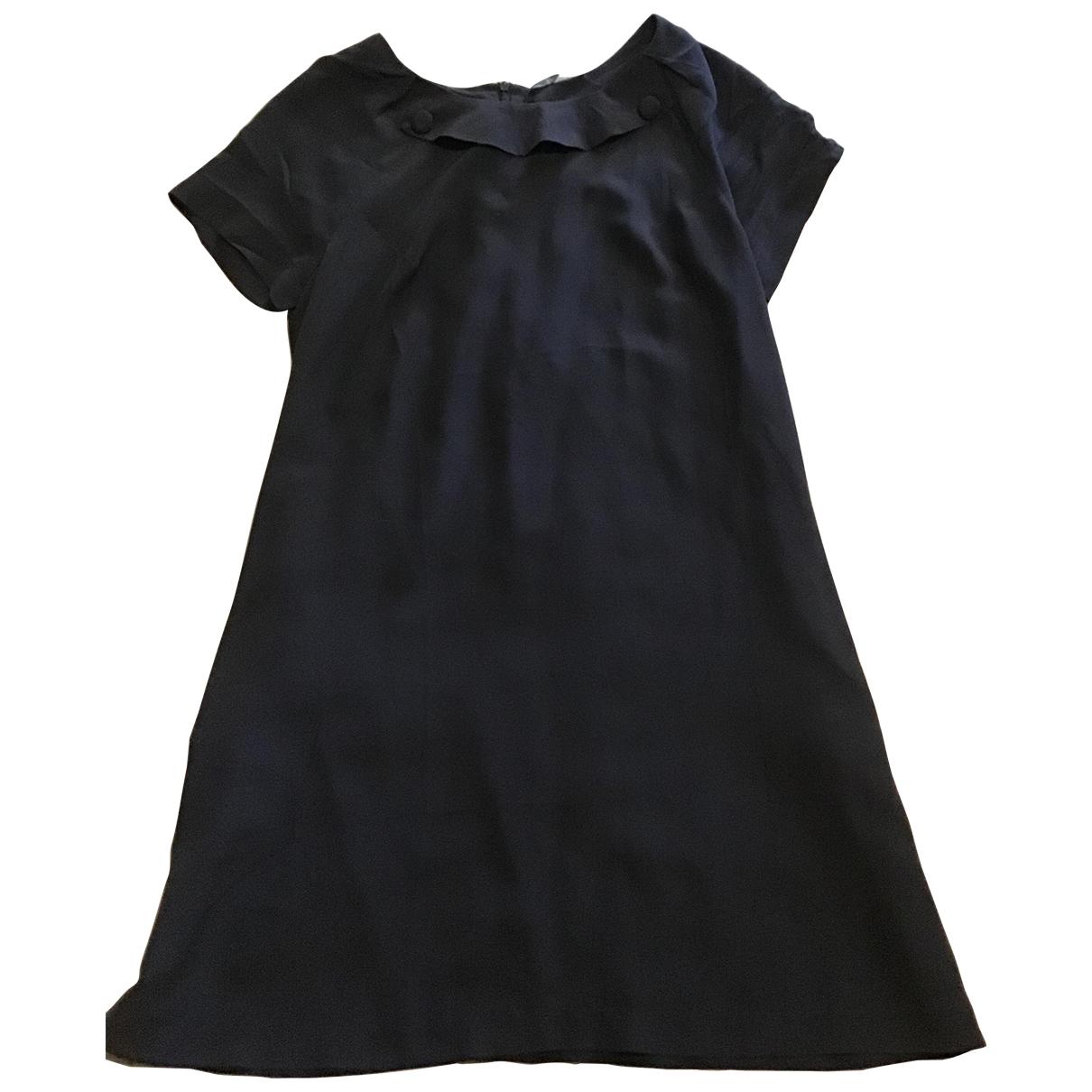Bel Air \N Kleid in  Schwarz Seide