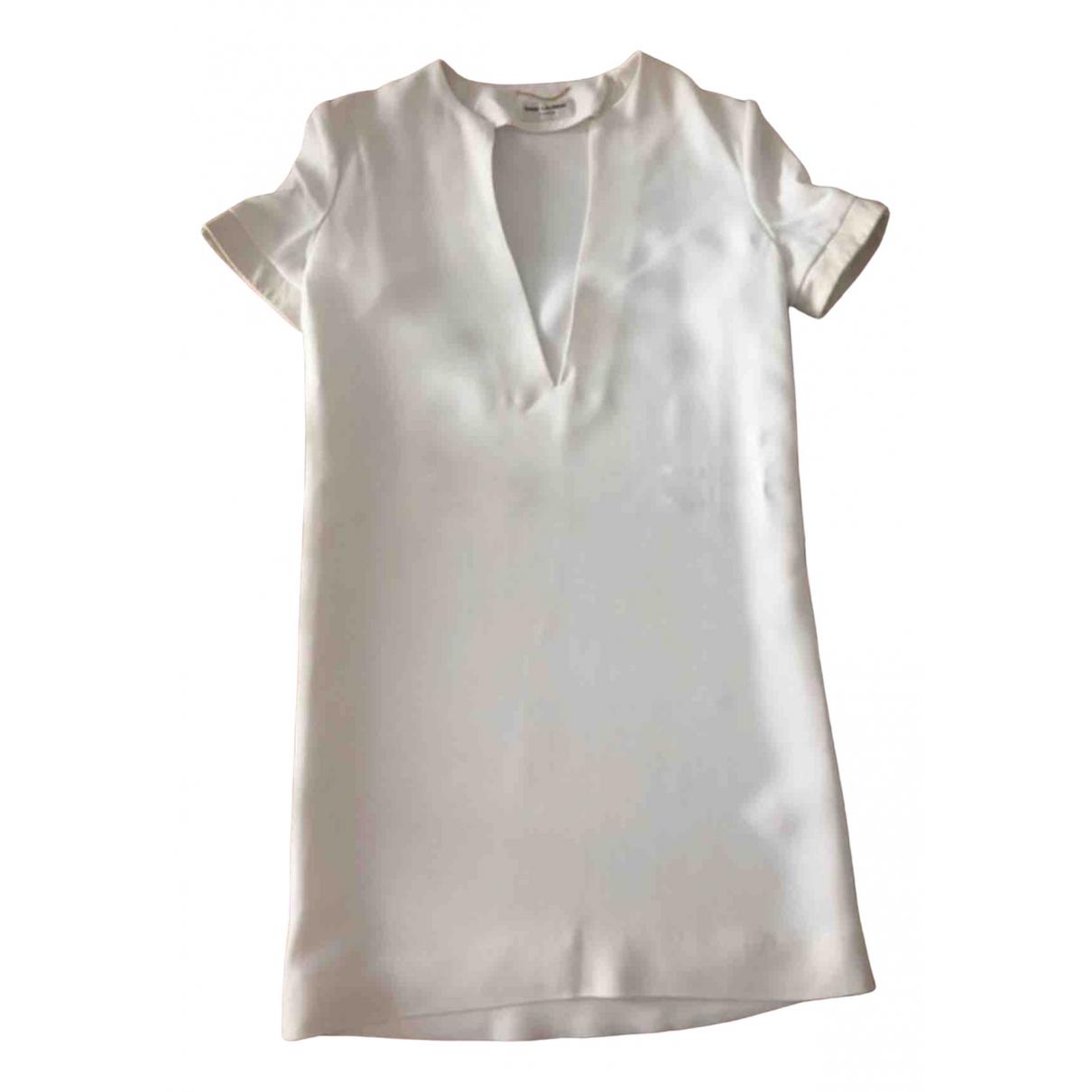 Saint Laurent - Robe   pour femme - blanc