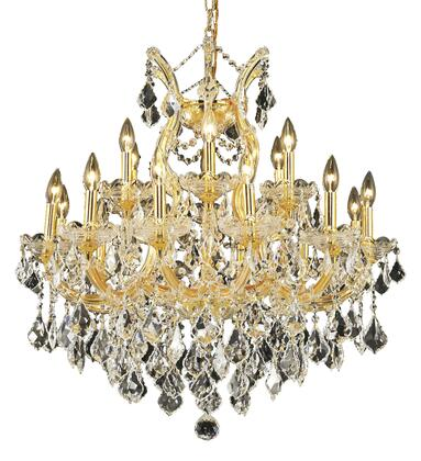 2800D30G/RC 2800 Maria Theresa Collection Hanging Fixture D30in H28in Lt: 18+1 Gold Finish (Royal Cut