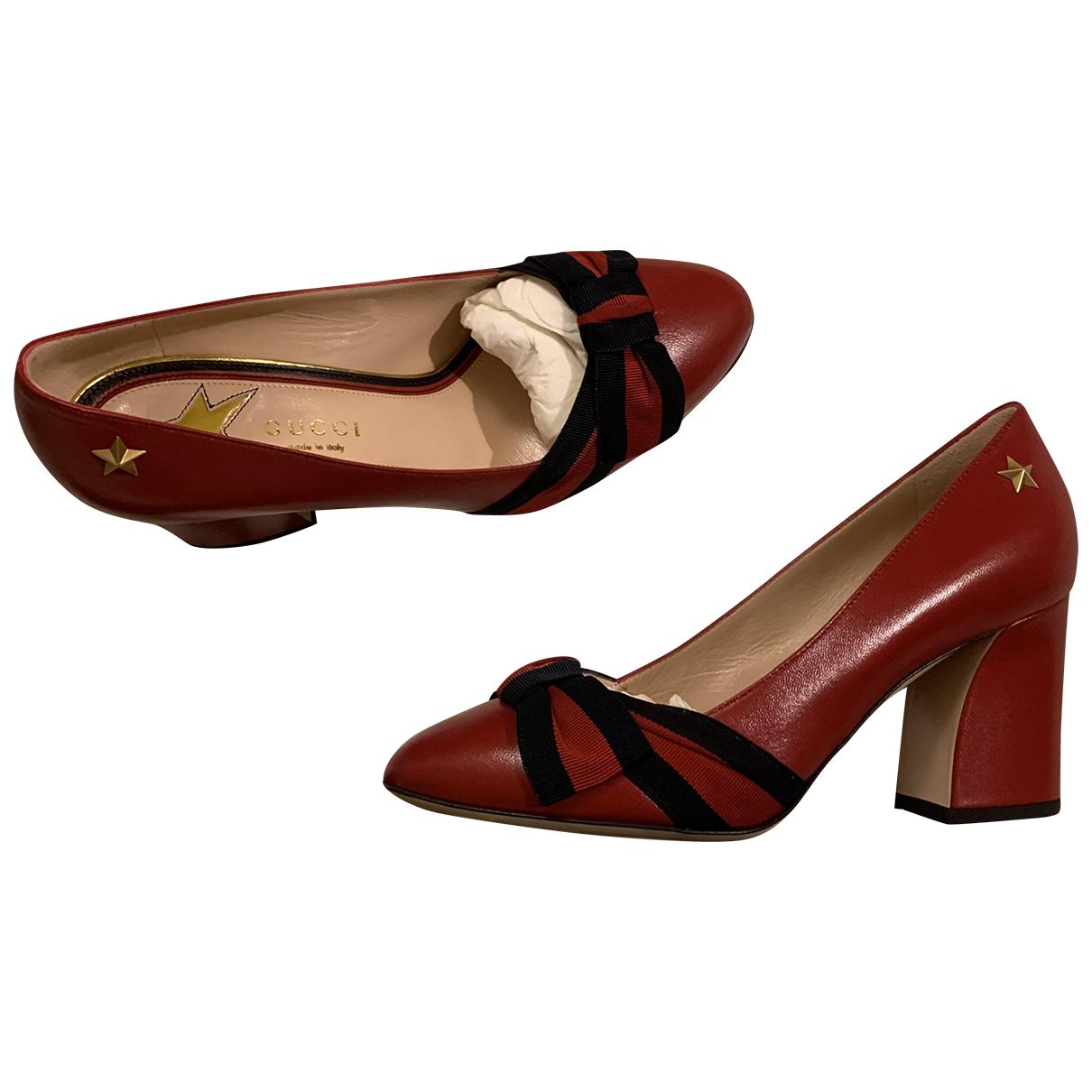 Gucci - Escarpins Sylvie pour femme en cuir - rouge