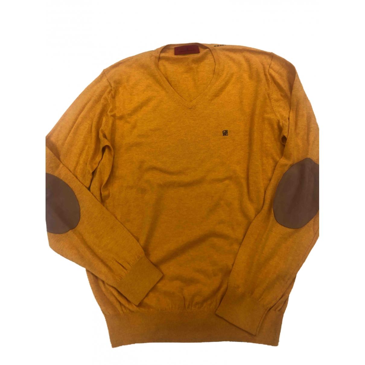 Carolina Herrera - Pulls.Gilets.Sweats   pour homme en coton - jaune