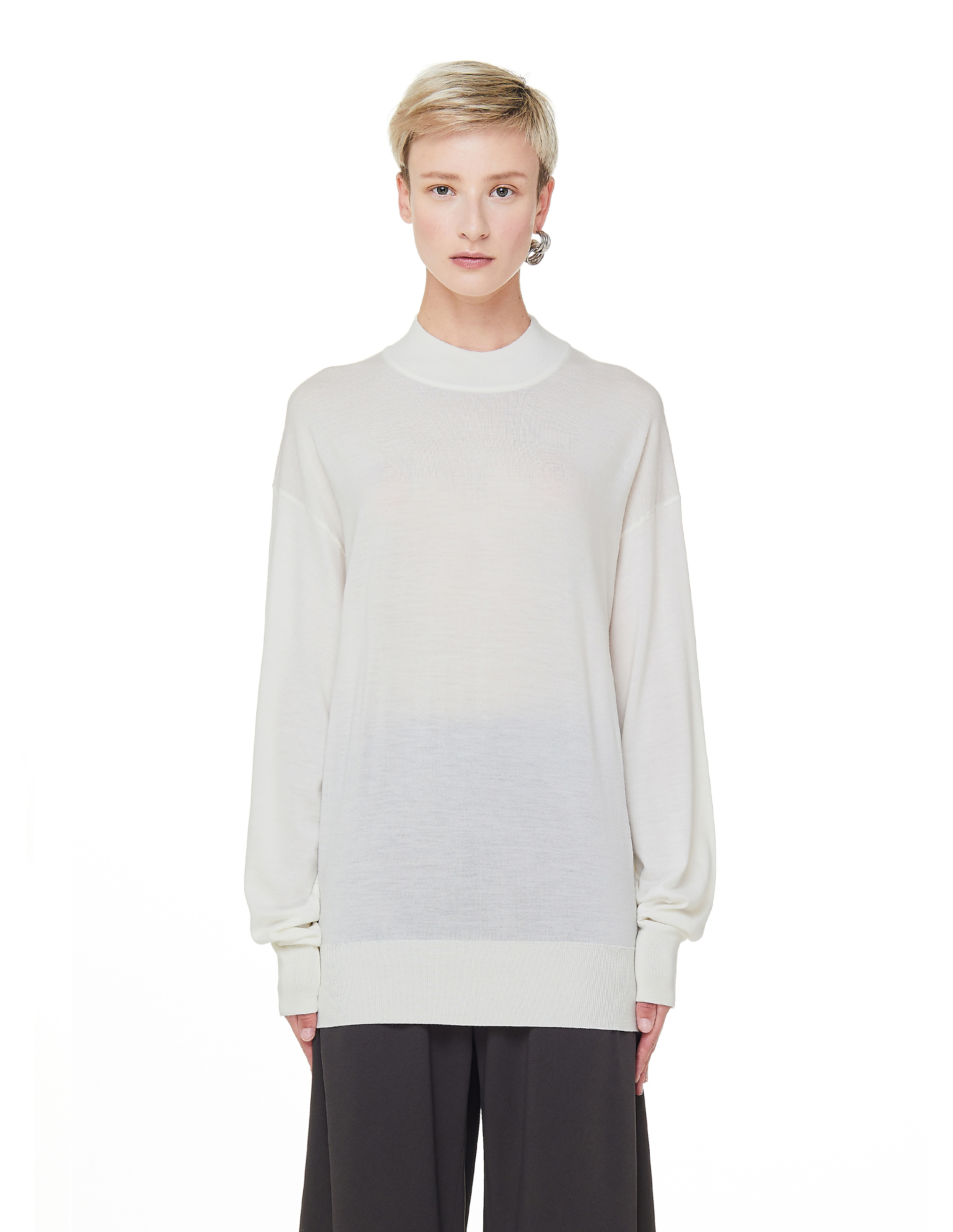 The Row White Wool & Cashmere Taryn Sweater
